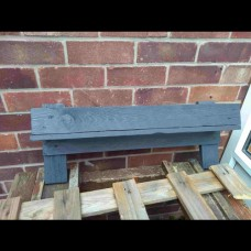 Recycled Wooden Wall Mounted Garden Planter
